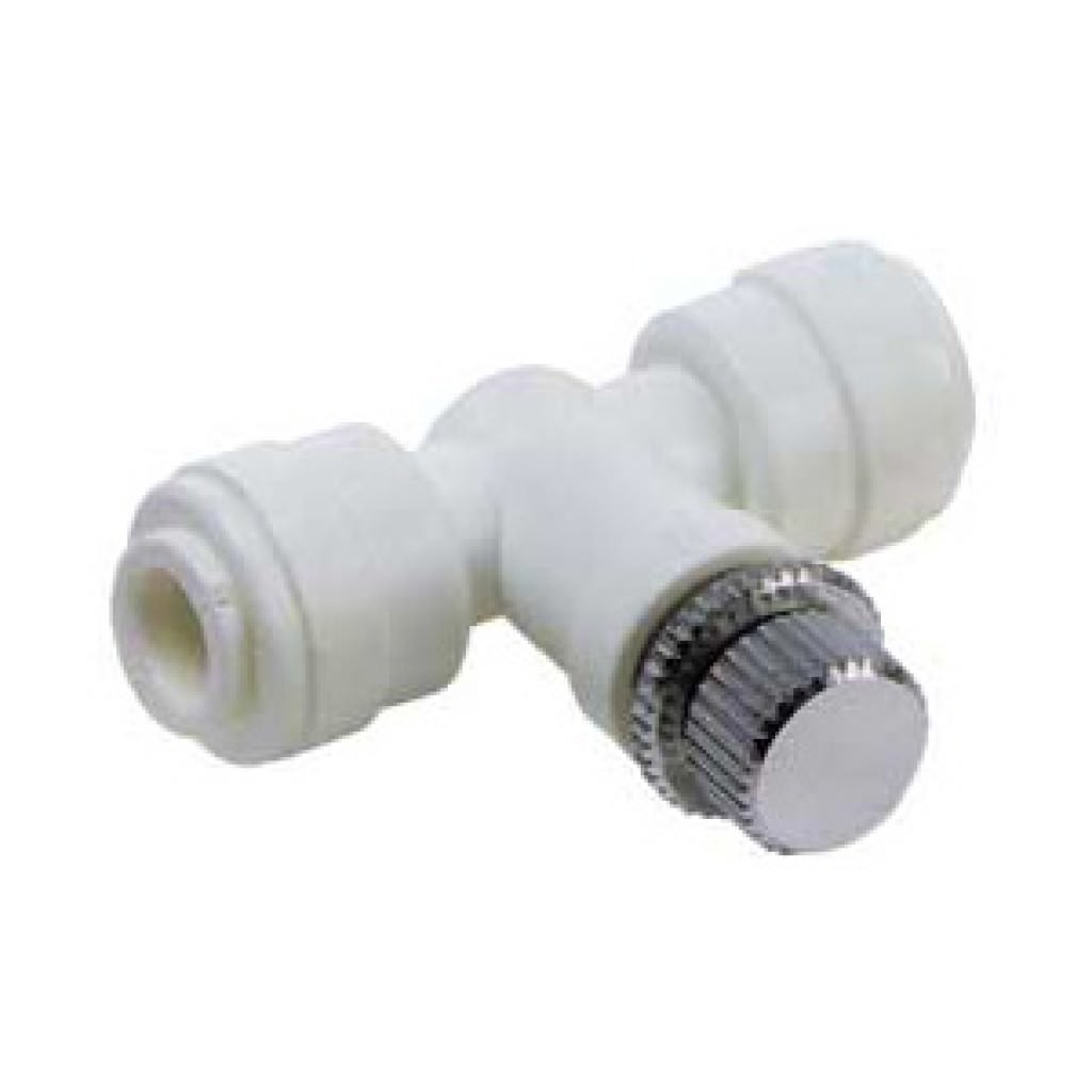 "Flow control valve - 1/4"" push-in fitting"
