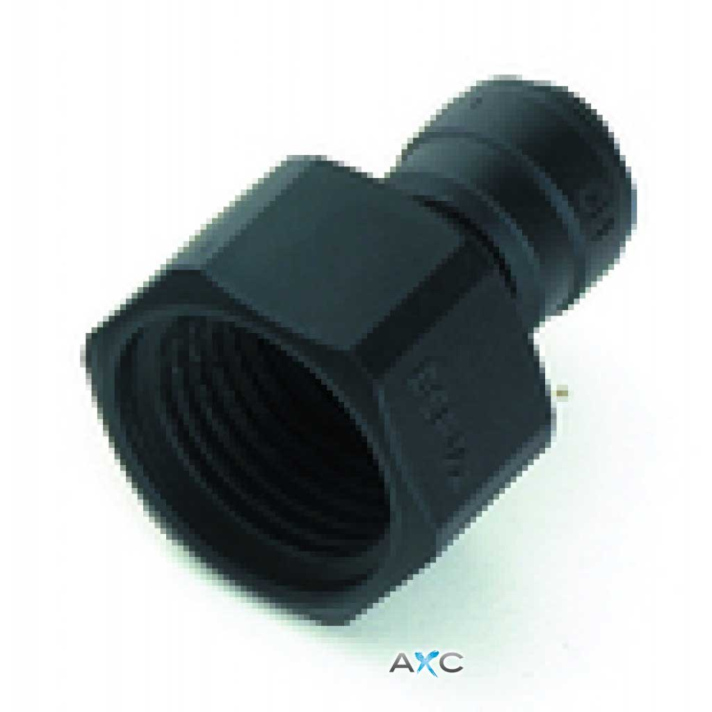 Straight female adaptor 1/2'' thread - 8mm push-in fitting
