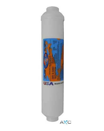 "Omnipure CL10 PF5  In-Line 10"" Sediment Filter"