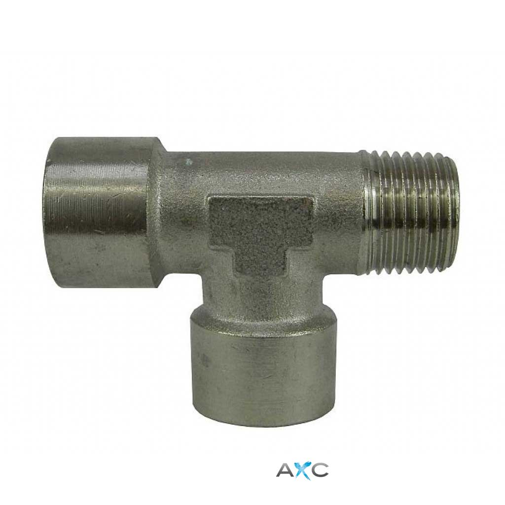 Nickel-plated Brass T- connector  3/8 ""
