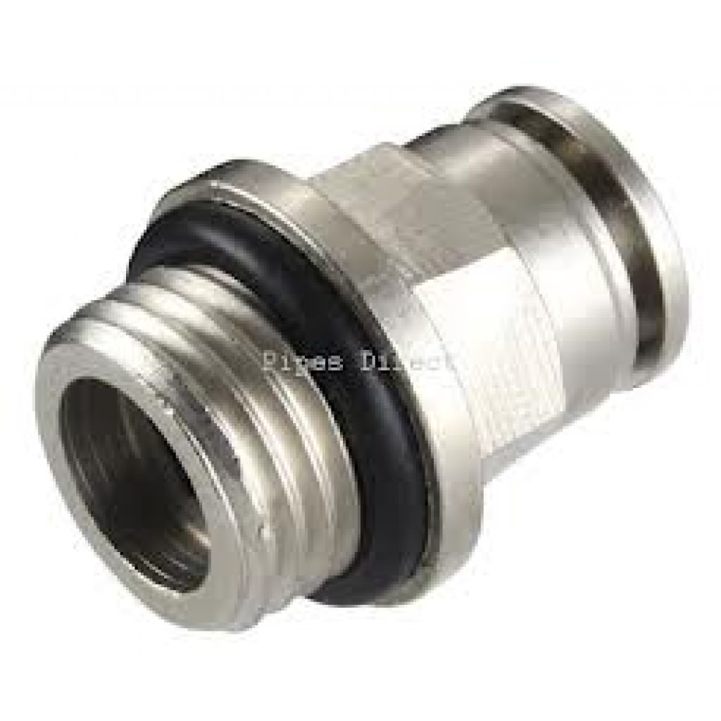 Straight male adaptor 1/8'' thread - 6mm push-in fitting