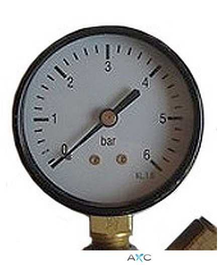 Low pressure gauge for professional pressure regulators
